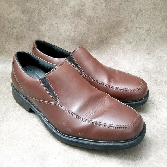 Bostonian Mens  25877 Sz 10 W Brown Leather Slip